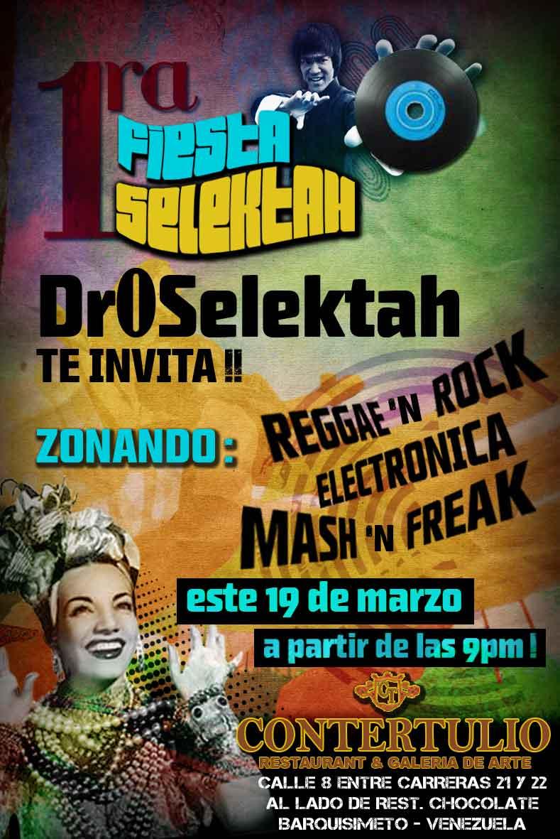 Afiche fiesta Selektah