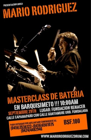 Poster Masterclass Mario Rodrguez