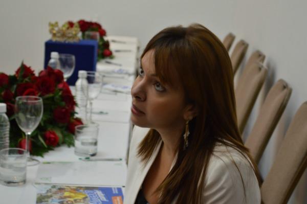 Alba Árraez, integrante de la Organización Centroccidental, conversó con los asistentes y medios de comunicación.