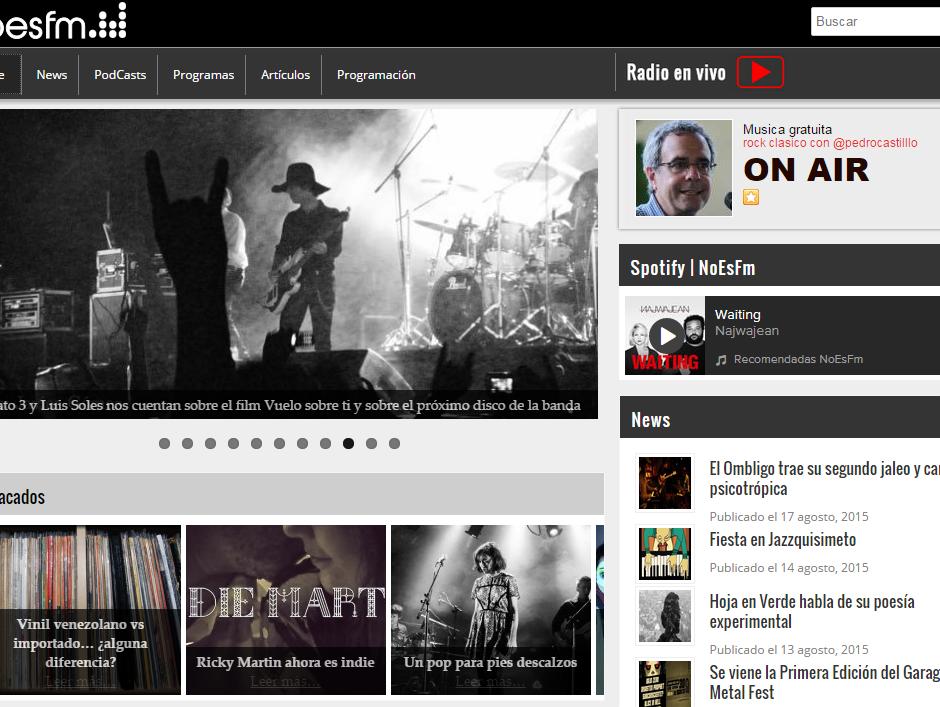 Captura de la página noesfm