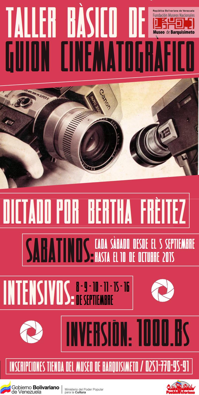 Taller de Guión Cinematográfico en el Museo de Barquisimeto