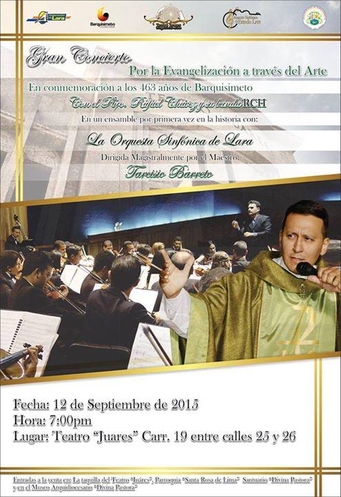 Concierto de la agrupación RCH y la Orquesta Sinfónica de Lara.