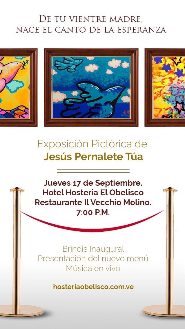 Imagen promocional de la Exposicion pictorica Jesús Pernalete Túa