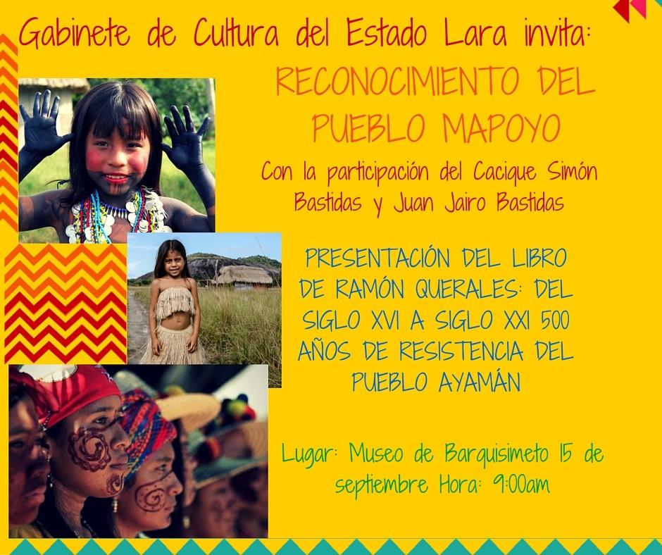 Imagen promocional Homenaje al Pueblo Mapoyo