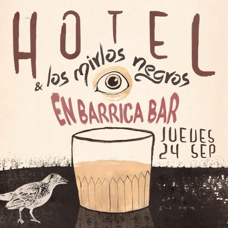 Imagen promocional de Hotel y Los Mirlos Negros