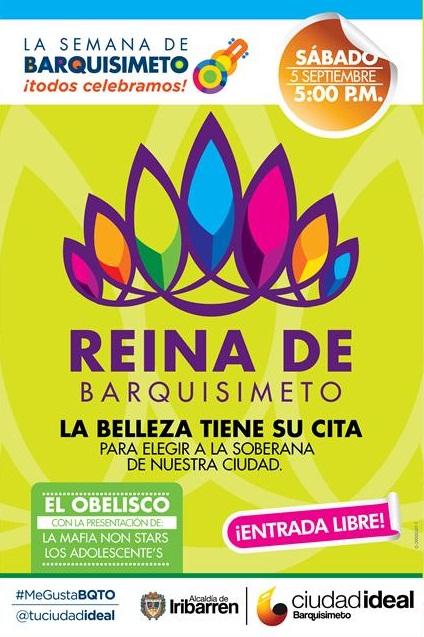 Afiche de la elección de la Reina Barquisimeto