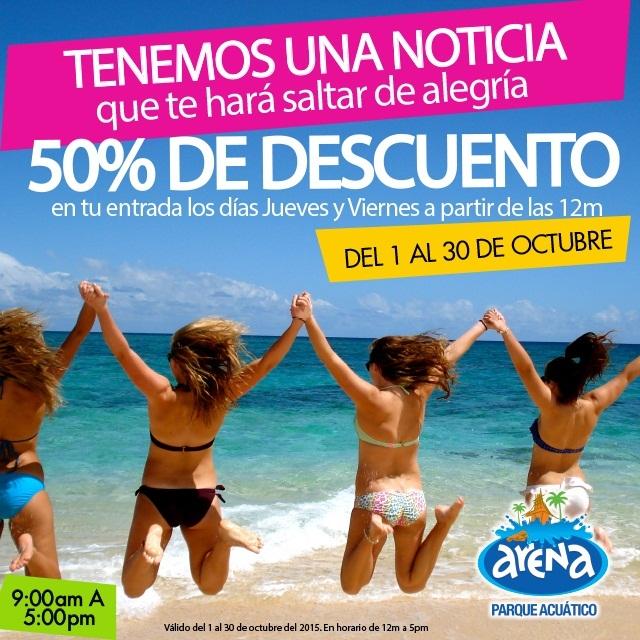 Promoción Octubre Parque Arena Acuático