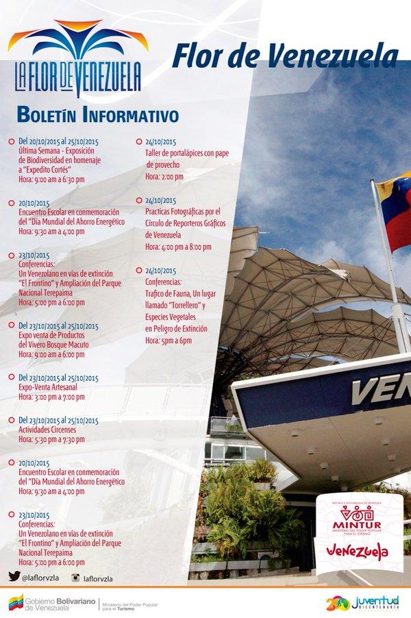 Cronograma de actividades de la Flor de Venezuela