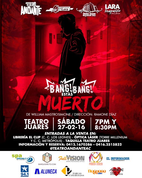 obra de teatro Bang Bang estás muerto