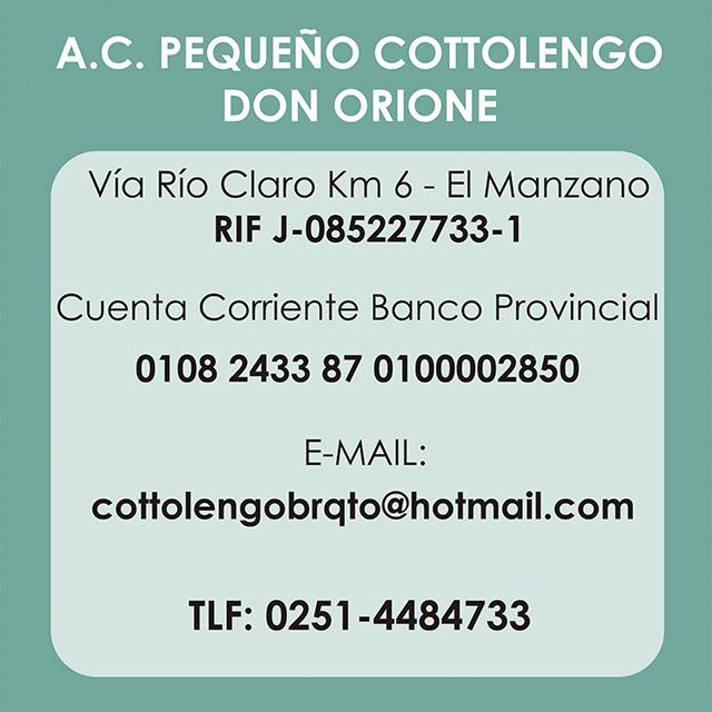 Datos Banco Cottolengo