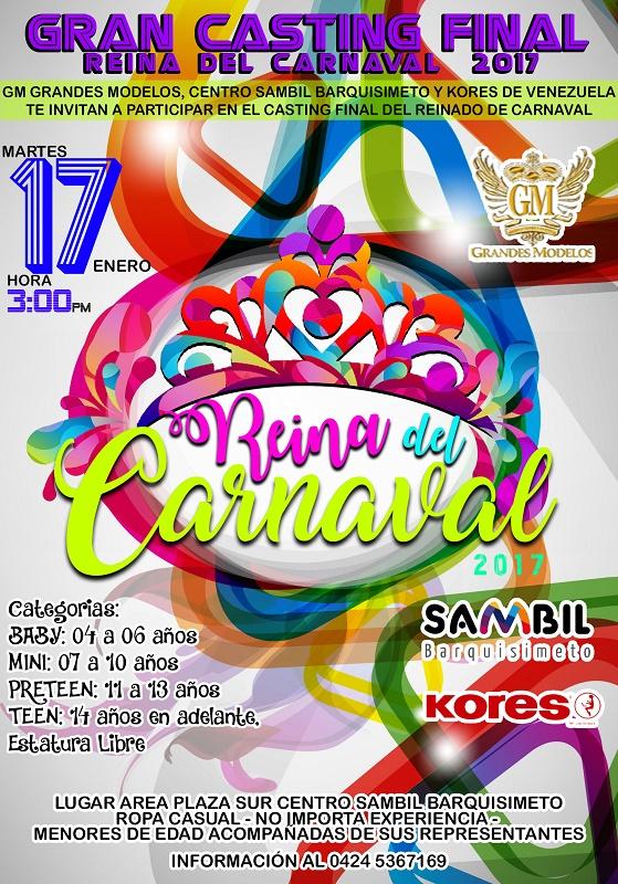 Reina del Carnaval 2017 Agencia GM